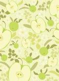 Fondo verde de la manzana Fotos de archivo