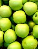 Fondo verde de la manzana imagen de archivo
