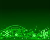 Fondo verde de la Navidad Imagen de archivo libre de regalías