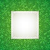 Fondo verde de la Navidad Fotos de archivo