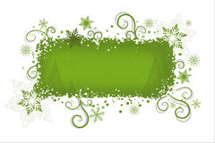 Fondo verde de la Navidad   Fotografía de archivo libre de regalías