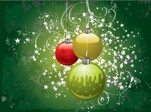 Fondo verde de la Navidad Fotografía de archivo