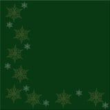 Fondo verde de la Navidad Foto de archivo libre de regalías