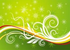 Fondo verde de la Navidad Imágenes de archivo libres de regalías