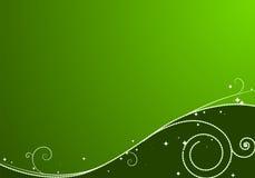 Fondo verde de la Navidad Imagenes de archivo