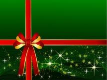 Fondo verde de la Navidad con la cinta libre illustration