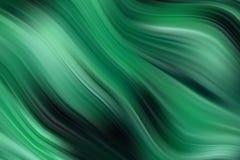 Fondo verde de la onda del vector Textura de la pintura al óleo libre illustration