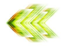 Fondo verde de la tecnología de la flecha Foto de archivo