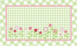 Fondo verde de la tela escocesa Imagen de archivo libre de regalías
