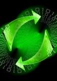 Fondo verde de las flechas Fotos de archivo libres de regalías