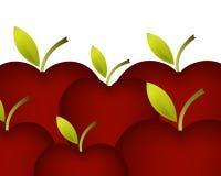 Fondo verde de las manzanas Imagen de archivo libre de regalías