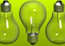Fondo verde de los bulbos Fotografía de archivo libre de regalías