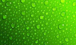 Fondo verde de los descensos del agua stock de ilustración