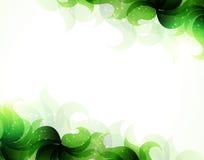 Fondo verde de los pétalos Fotos de archivo libres de regalías