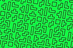 Fondo verde de los tetris Fotografía de archivo