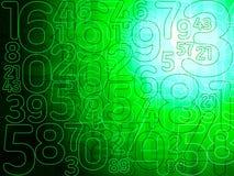 Fondo verde de números abstractos de la matriz Fotos de archivo libres de regalías
