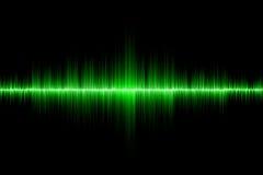 Fondo verde de onda acústica Fotografía de archivo libre de regalías