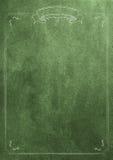 Fondo verde de papel en blanco de la textura con la frontera retra Foto de archivo