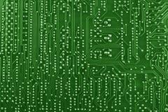 Fondo verde de tarjeta de circuitos Imagenes de archivo