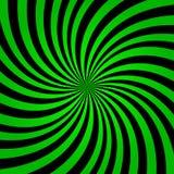 Fondo verde dei raggi dell'arcobaleno Vettore verde eps10 del fondo di segnale di riferimento Fondo verde e nero dei raggi royalty illustrazione gratis