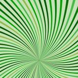 Fondo verde dei retro raggi astratti royalty illustrazione gratis