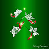 Fondo verde del árbol de navidad Fotos de archivo libres de regalías