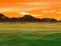 Fondo verde del agua Fotografía de archivo