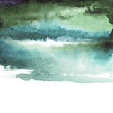 Fondo verde del azul de la acuarela ilustración del vector