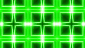 Fondo verde del caleidoscopio stock footage