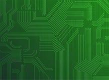 Fondo verde del circuito Imagen de archivo