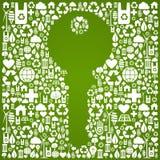 Fondo verde del clave del ambiente Fotografía de archivo libre de regalías