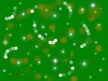 Fondo verde del día de fiesta Imagen de archivo