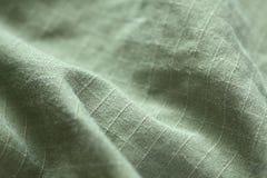 Fondo verde del dril de algodón Fotos de archivo libres de regalías
