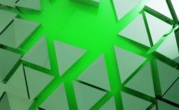Fondo verde del extracto de la forma Ilustración del Vector