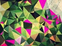 Fondo verde del extracto del triángulo Fotografía de archivo libre de regalías