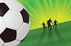 Fondo verde del fútbol Imagen de archivo