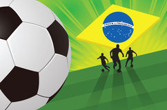 Fondo verde del fútbol Imágenes de archivo libres de regalías