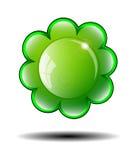 Fondo verde del fiore Illustrazione di vettore Immagine Stock Libera da Diritti