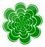 Fondo verde del fiore Illustrazione di vettore Immagini Stock Libere da Diritti