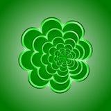 Fondo verde del fiore Illustrazione di vettore Fotografia Stock