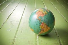 Fondo verde del globo del mundo Fotos de archivo libres de regalías