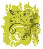 Fondo verde del grunge stock de ilustración