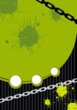 Fondo verde del grunge Imagen de archivo libre de regalías