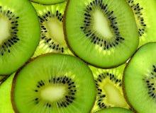 Fondo verde del kiwi Fotografie Stock