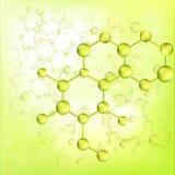 Fondo verde del legame della molecola (vettore) Immagine Stock