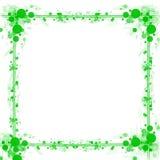 Fondo verde del marco de los círculos de los puntos Imagenes de archivo