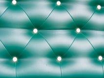Fondo verde del modello del cuoio della tappezzeria Fotografia Stock Libera da Diritti