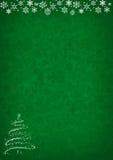 Fondo verde del modelo de la Navidad Fotos de archivo libres de regalías