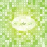 Fondo verde del mosaico Immagini Stock