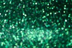 Fondo verde del nuovo anno o di Natale fotografia stock libera da diritti